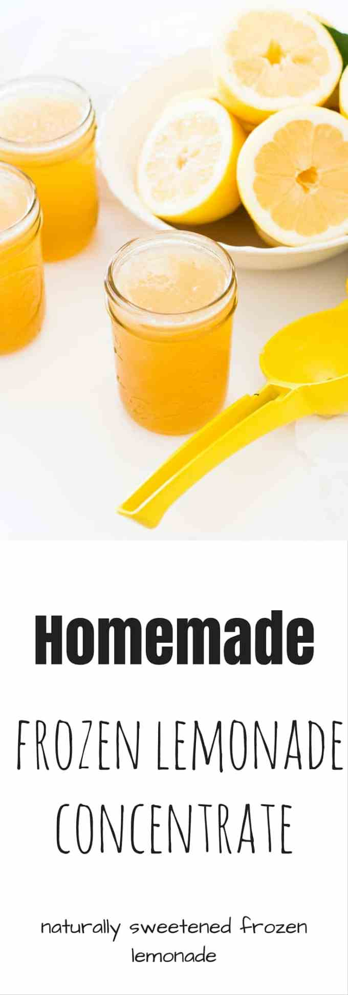 Be prepared for the warm weather with some frozen ice lemonade concentrate. Naturally sweetened and only 3 ingredients make this a great summer treat