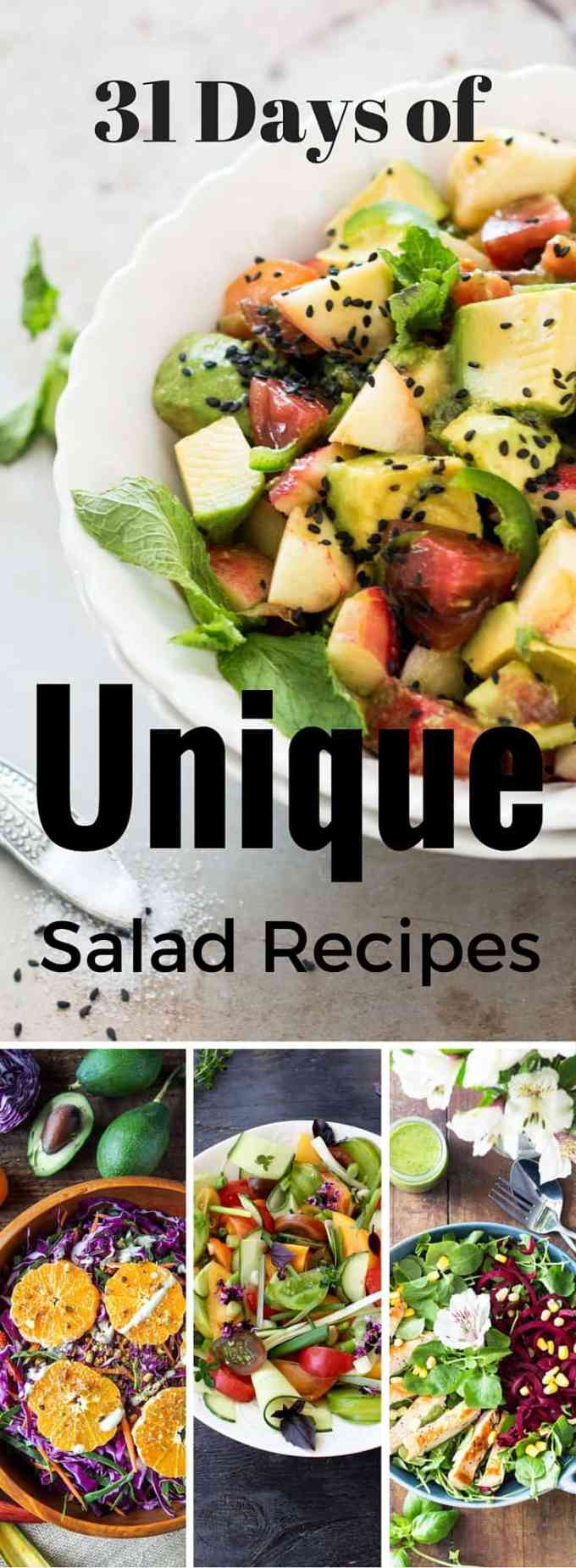 31 Days of Unique Salad Recipes