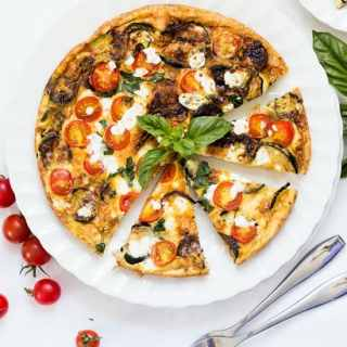 Zucchini Tomato and Feta Frittata