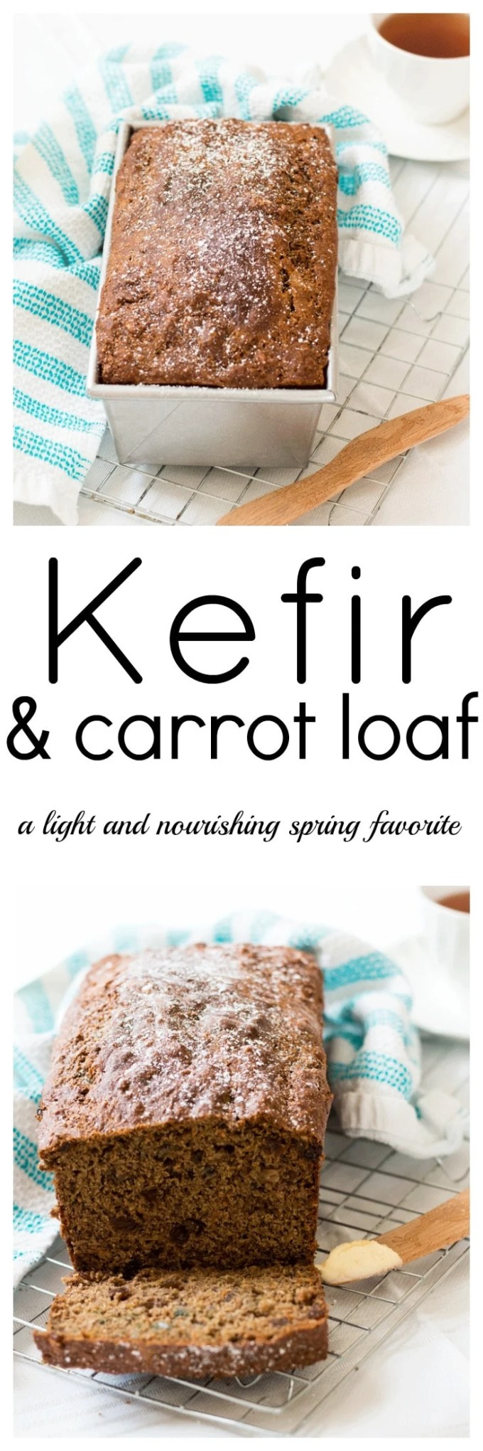 Imagine a Carrot Loaf that's not only delicious, but highly nourishing as well. Well, you can eat it too with this Kefir and Carrot Loaf full of goodness.