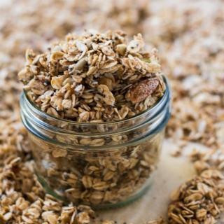 Super Seedy Coconut Oil Granola 550px