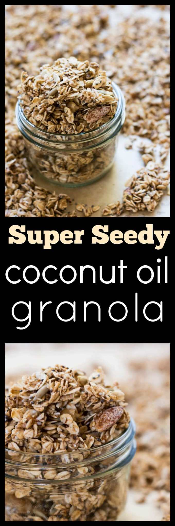 Make your morning something special with this oh-so-delicious Super Seedy Coconut Oil Granola. Jam packed full of nuts and seeds naturally sweetened.