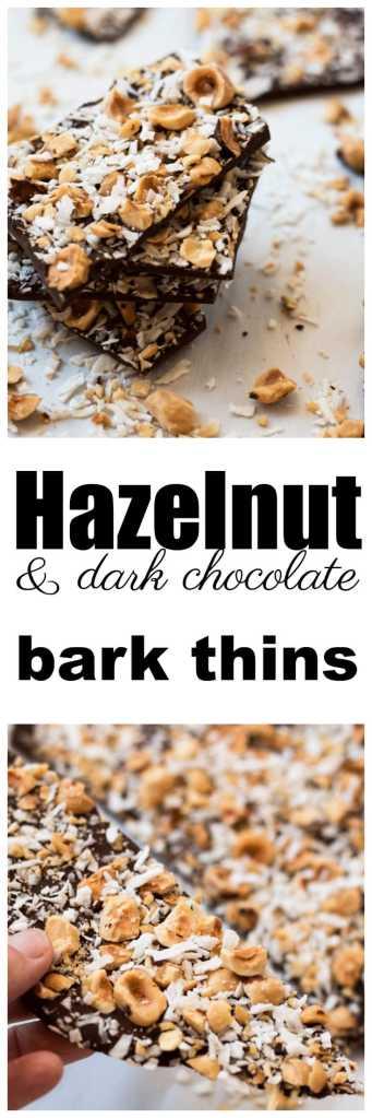 Homemade Hazelnut and Dark Chocolate Bark Thins