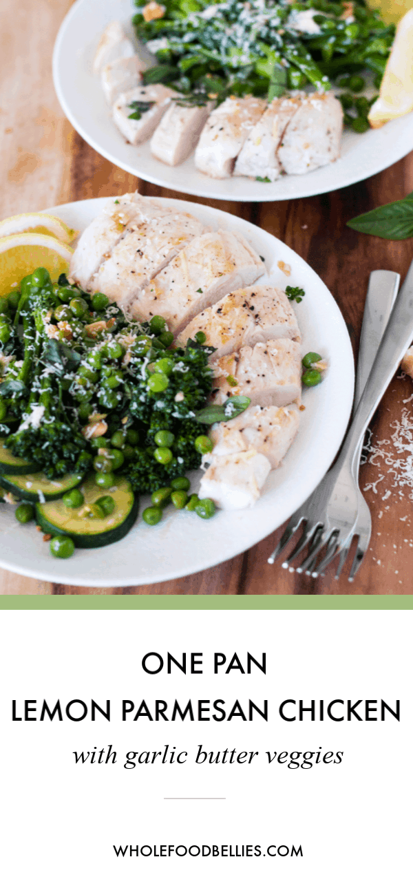 This quick and easy One Pan Lemon Parmesan Chicken with Garlic Butter Veggies dish comes together in just one pot. Although simple,this meal really packs a flavor punch andalso packs well as lunch the next day. Want some carbs with that dinner? Chop up the chicken and toss it and the veggies through some cooked pasta. Hey presto, the carb lovers are happy too.#chickenrecipes #chickenrecipeshealthy #chickenrecipeseasy