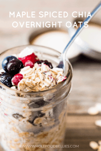 Maple spiced chia overnight oats pin