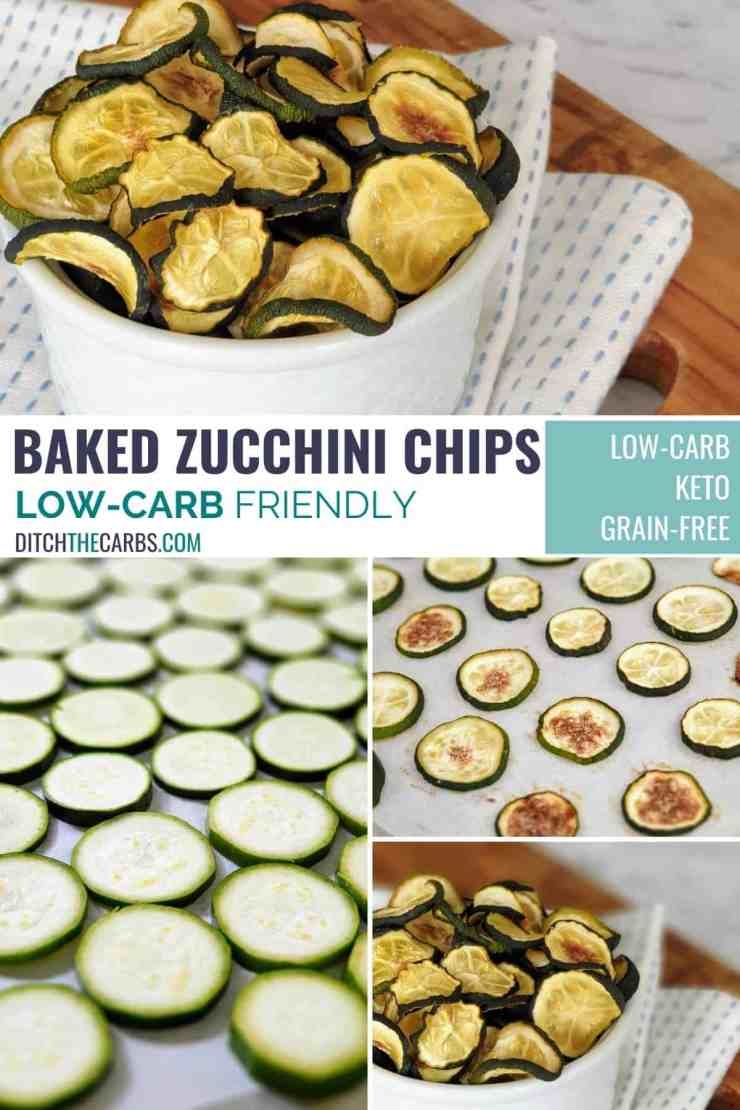 Fried zucchini slices collage