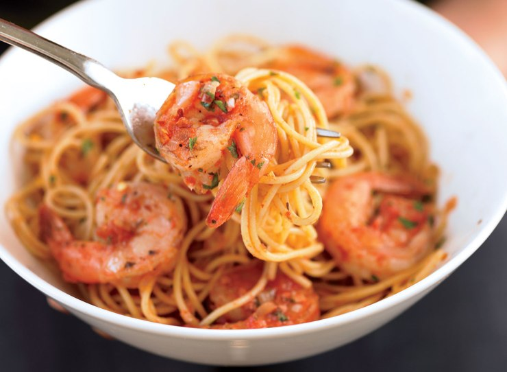 Healthy prawns from diavolo