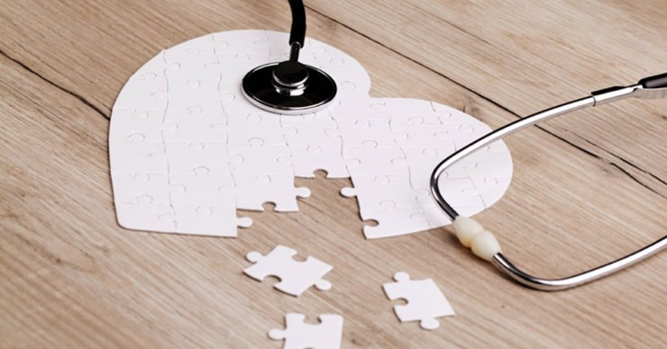 Heart shaped puzzle pieces