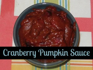 Pumpkin Cranberry Sauce ~ Just In Time For Fall