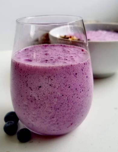 Berry smoothie in a glass