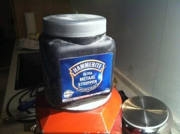 My trusted jar of paintstripper