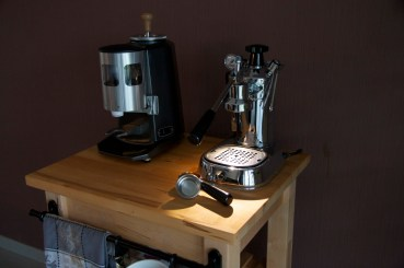 Mazzer with new shoes and a hat