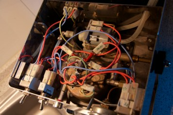 Guts! Always take overview pictures of the wiring before yanking stuff out