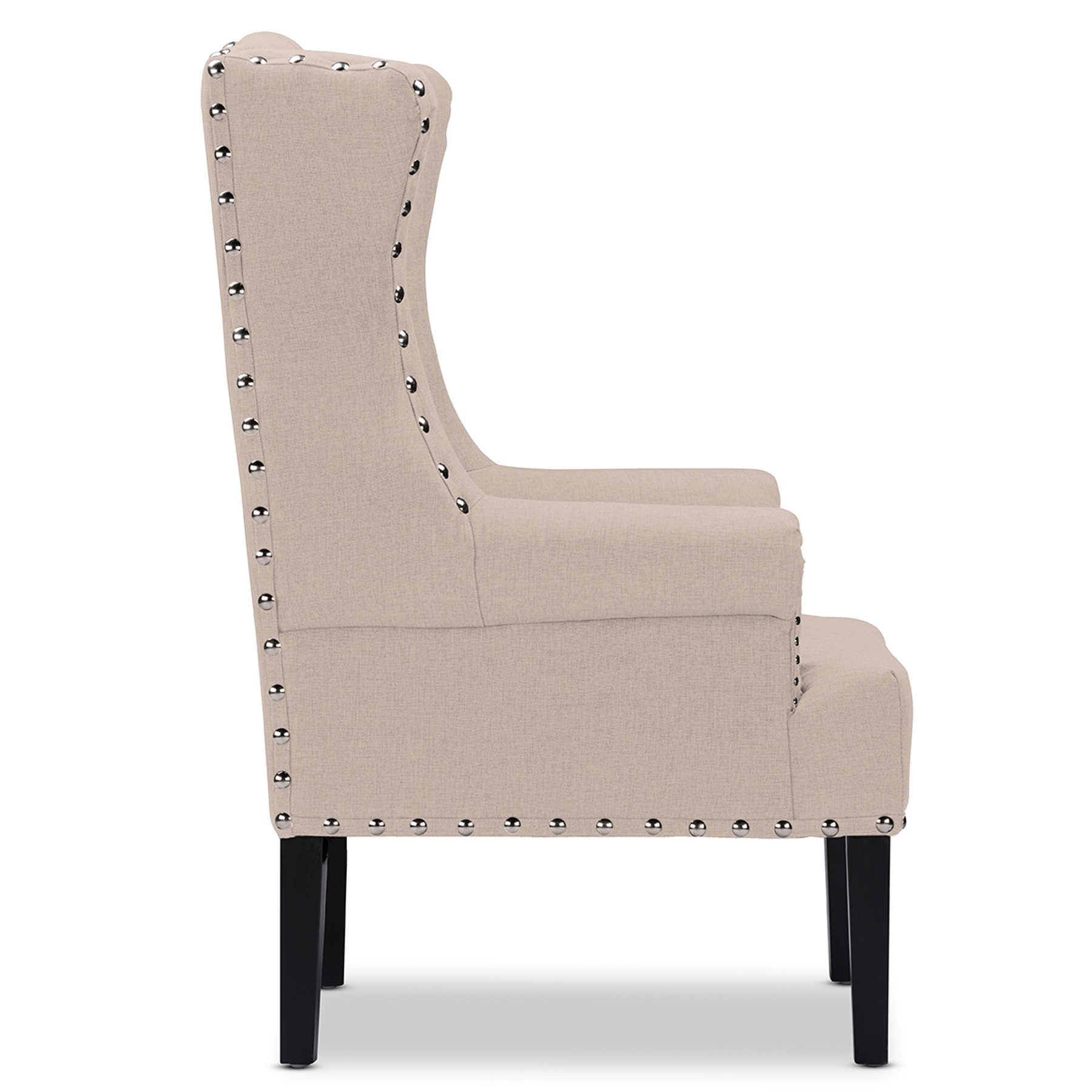 country style wingback chairs quill office wholesale accent furniture baxton studio knuckey french beige linen nail head wing back armchair tsf 8132