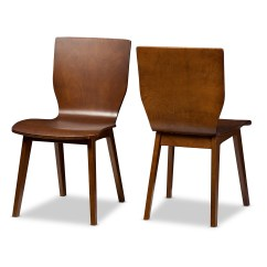 Dark Brown Wooden Dining Chairs Grey Accent Chair With Arms Wholesale Room Furniture Baxton Studio Elsa Mid Century Modern Scandinavian Style Walnut Bent Wood