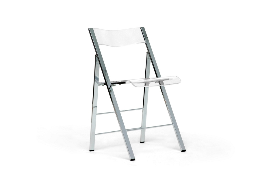 folding chair rubber feet pontoon captains acrylic foldable wholesale interiors baxton studio fay 506 clear