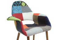 Baxton Studio Forza Patchwork Mid-Century Style Accent ...