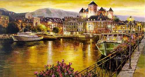 Italian Mediterranean and garden style oil paintings  wholesaleartsframes