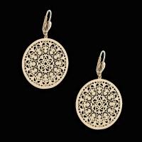 18Kt Gold Layered | Filigree Fashion Earrings | Oro Laminado