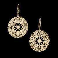 18Kt Gold Layered | Filigree Earrings | Oro Laminado