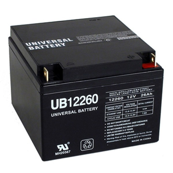 Volt 26 Ah 12v 26a Ub12260 Wheelchair Mobility Scooter Battery