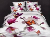 100%Cotton Butterfly Loving Gorgeous Flowers Reactive ...