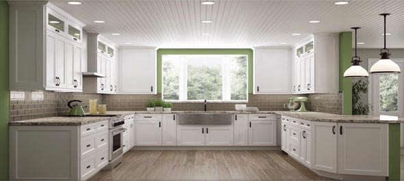 RTA Bright White Shaker stylish Kitchen cabinets