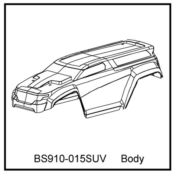 Redcat Racing BS910-015SUV T10 SUV Body Clear Part BS910