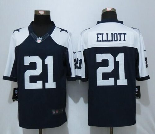 best authentic f9c9c 8368a Nike Cowboys #21 Ezekiel Elliott Navy Blue Thanksgiving ...