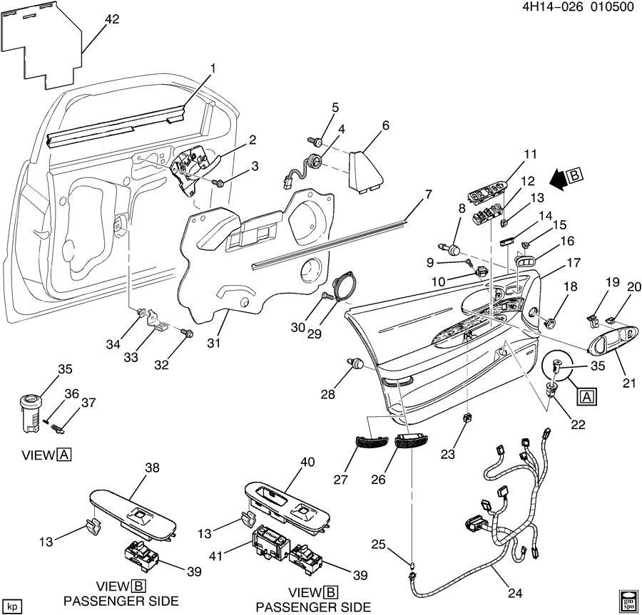 Buick Lesabre Panel. Front door trim. Panel, frt s/d upr