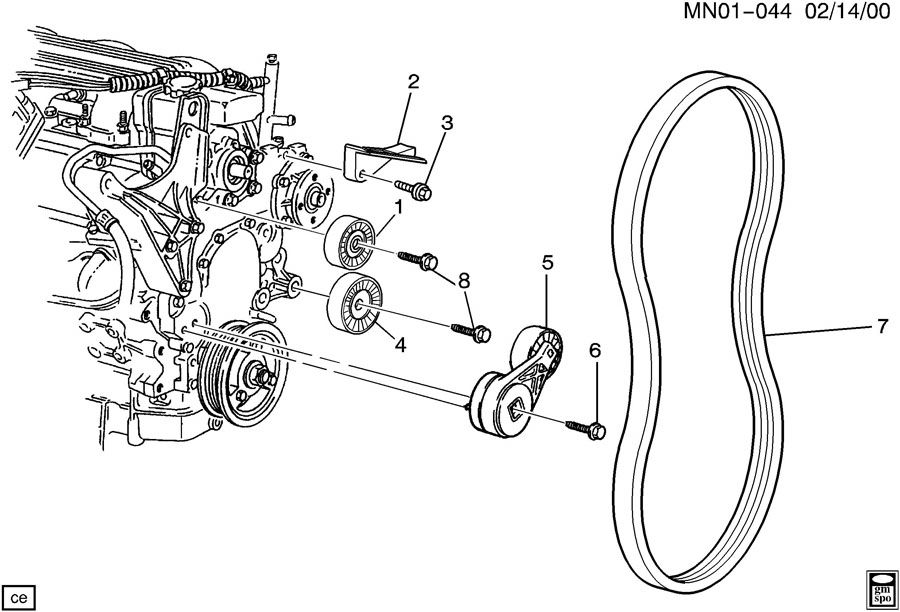 Pontiac Sunfire 2002 Belt Diagram 6