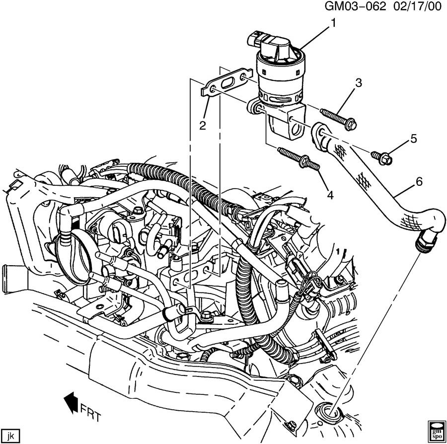 Buick RENDEVOUS E.G.R. VALVE & RELATED PARTS