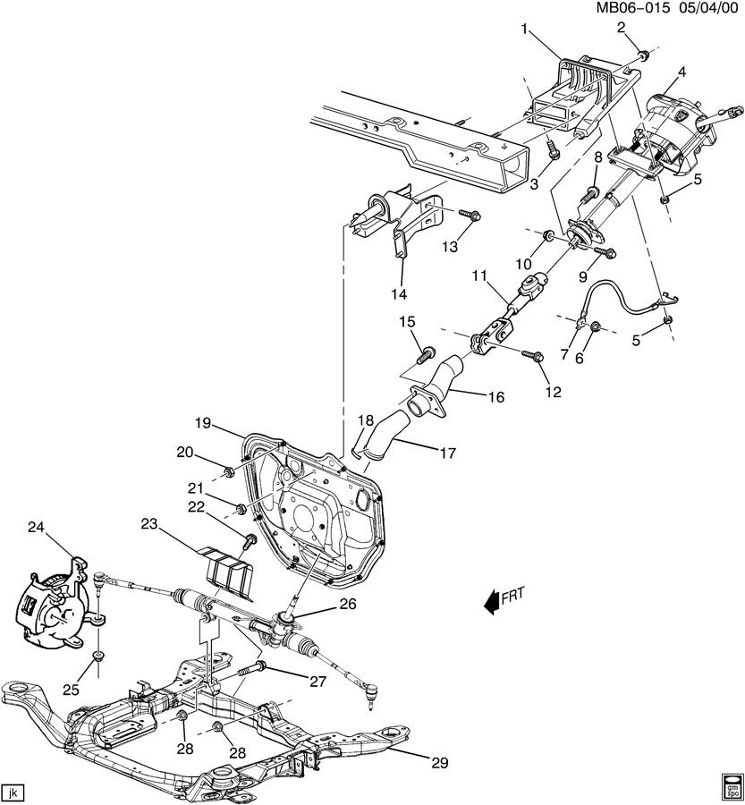 Buick Rendezvous Shaft. Steering column. Steering column