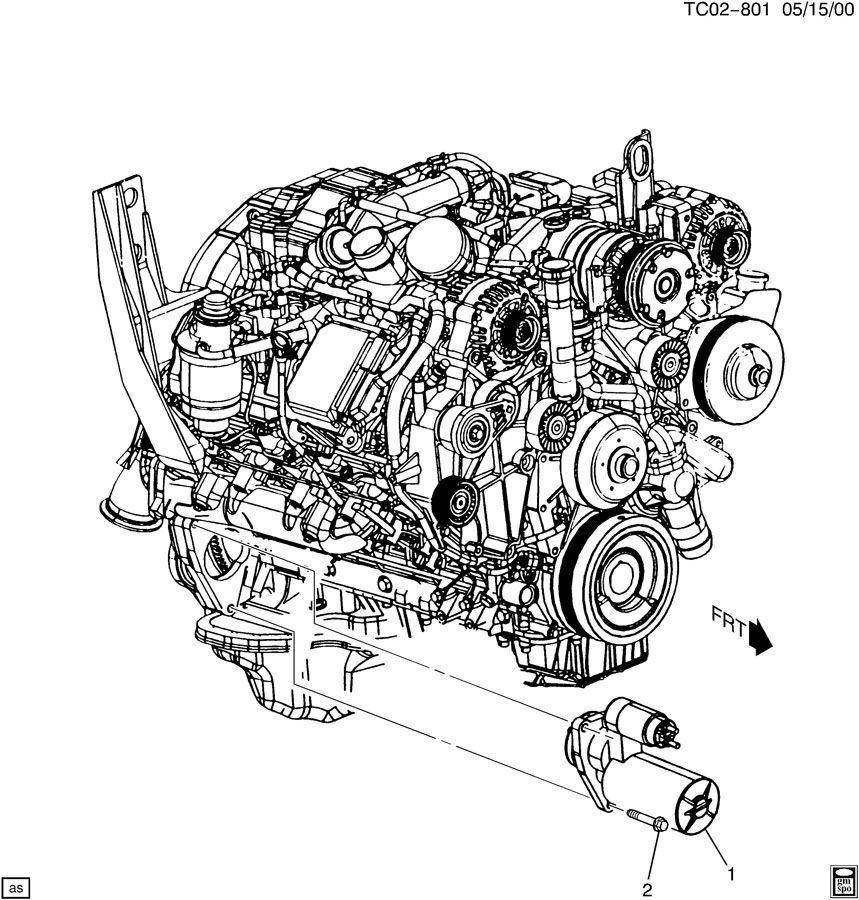 Chevrolet AVALANCHE STARTER MOTOR MOUNTING