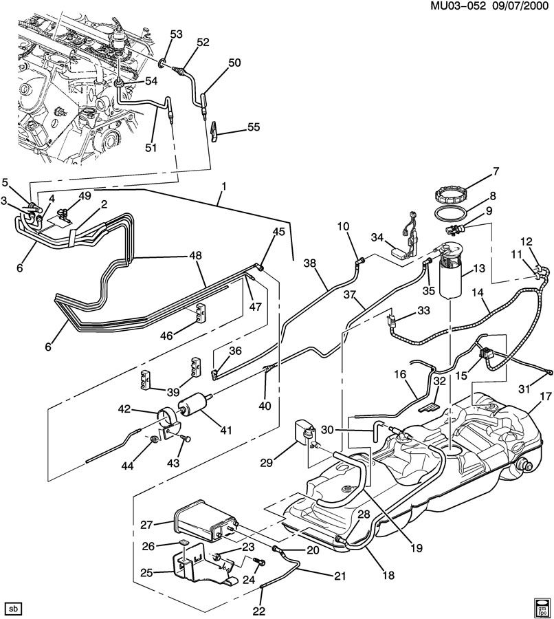 Oldsmobile Silhouette Fuel Pump Wiring Diagram