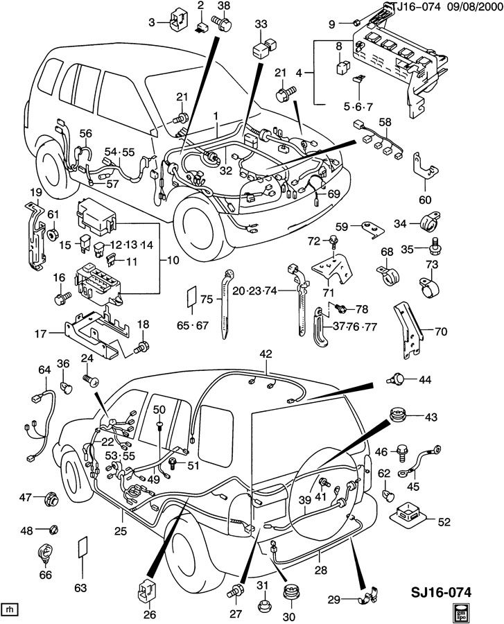 Geo Tracker Plug. Cap. Wiring and pipes. Door opening