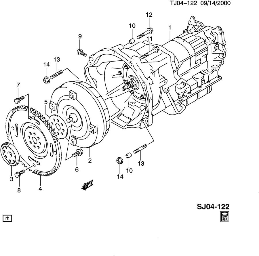 AUTOMATIC TRANSMISSION ASSEMBLY, FLEX PLATE, & TORQUE