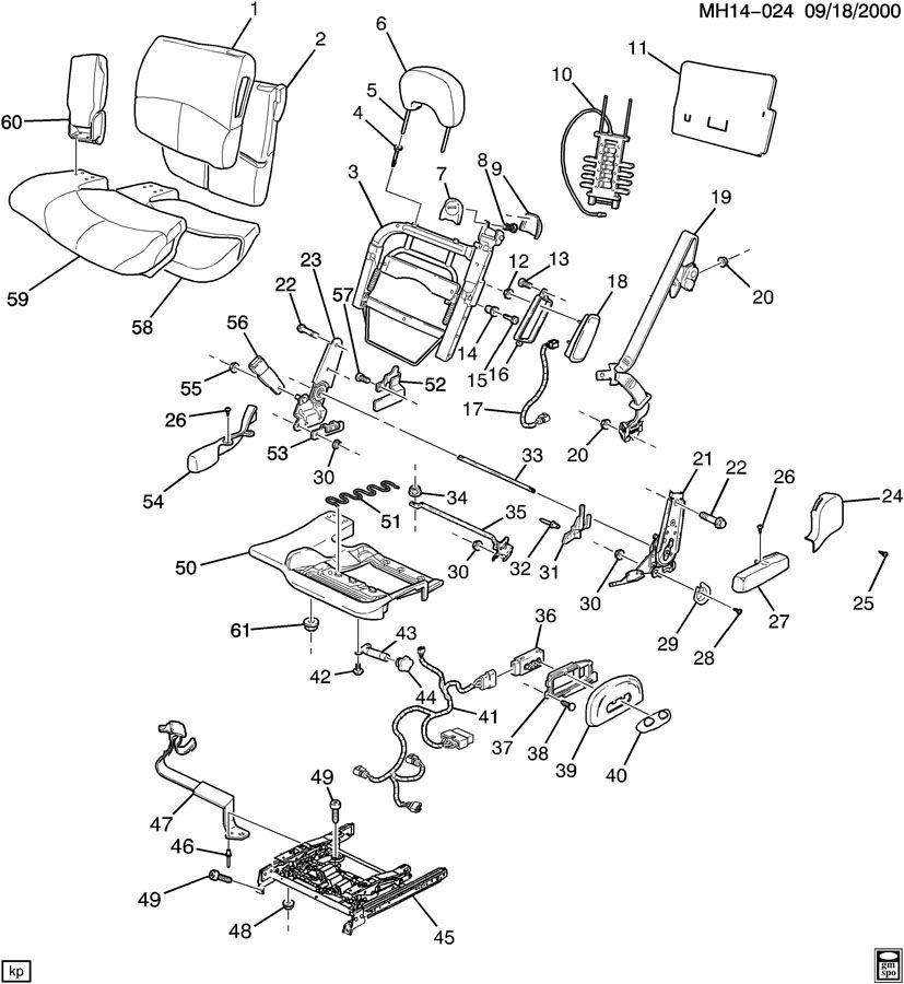 Buick Lesabre Belt kit. Seat belt. Kitguidenutplate