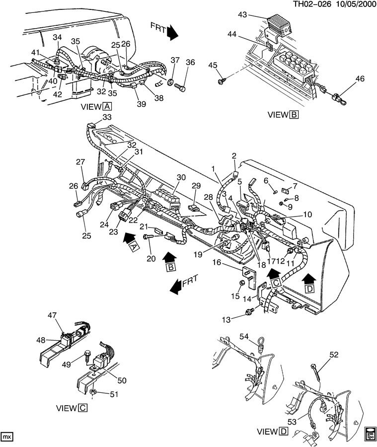 gm wiring harness diagram for 7500