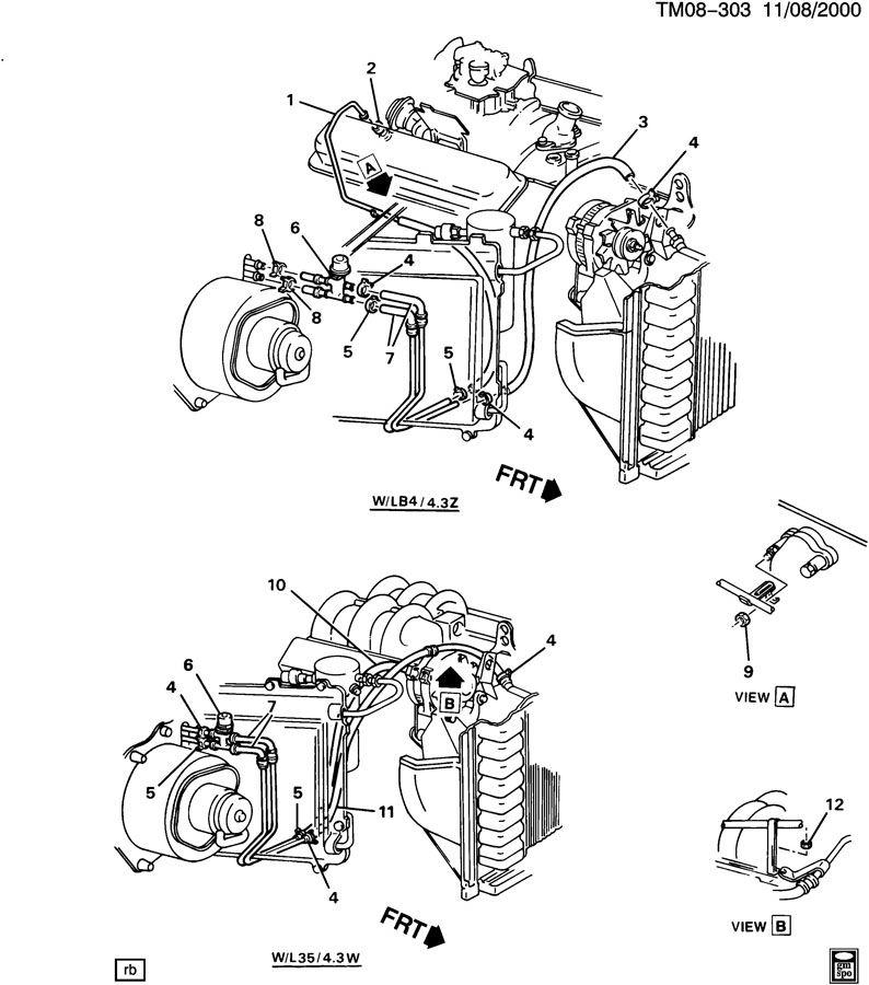 1995 Chevrolet ASTRO Hose. Heater. Hose, htr inl