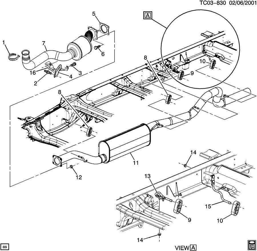 Chevrolet Silverado 2500 Converter. Catalytic converter