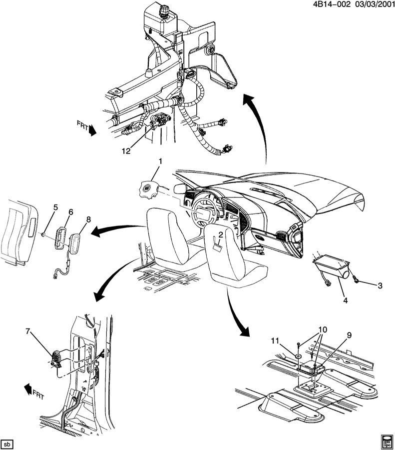 Buick Rendezvous Sensor. Inflatable restraint system