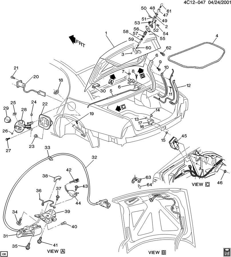 Buick Park Avenue Tumbler. Door lock cylinder. Instrument