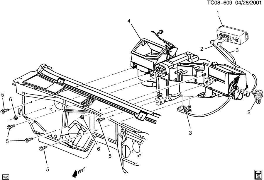Chevrolet Silverado Cable. Air flow control. Cable, defr