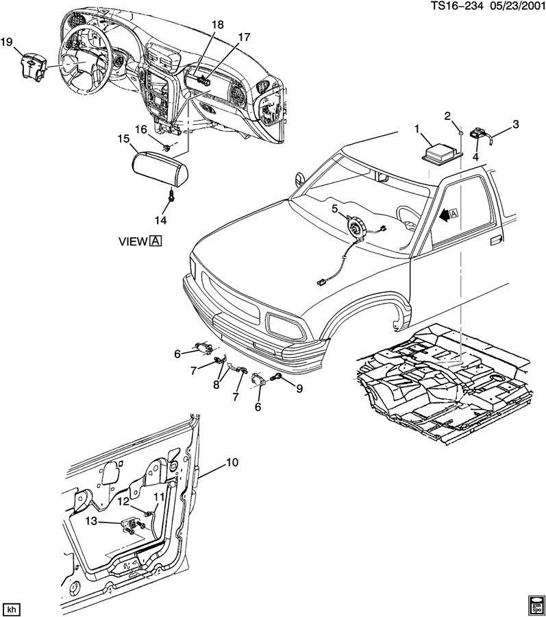 Chevrolet TRAILBLAZER Module. Inflatable restraint system
