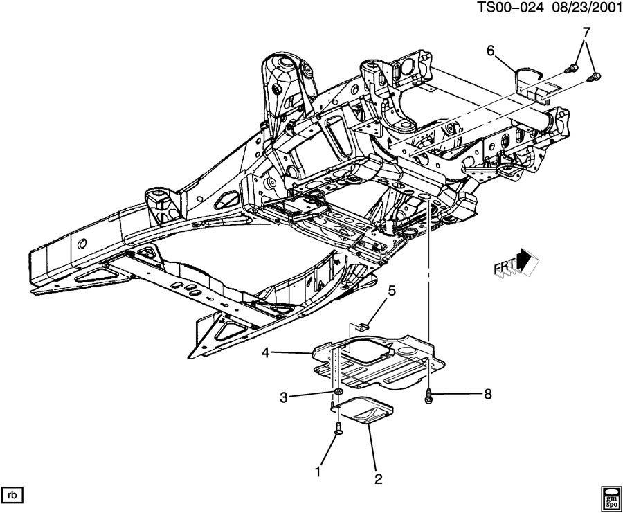 Chevrolet TRAILBLAZER Shield. Engine front cover. Shield