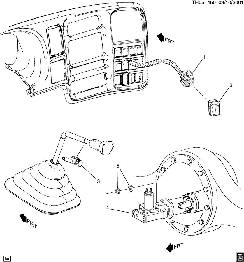 TWO SPEED REAR AXLE SHIFT CONTROL
