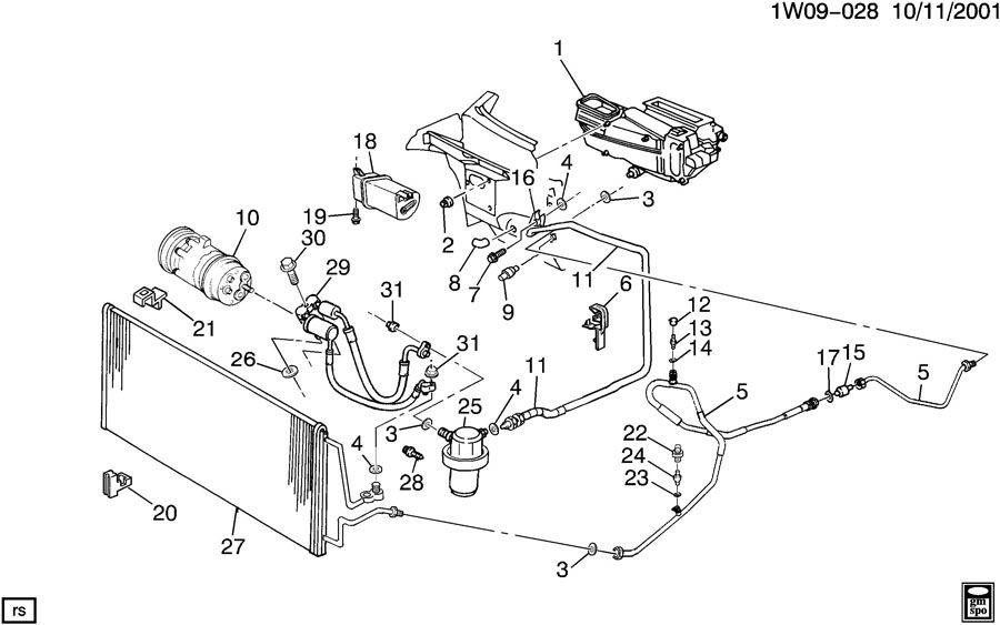 Chevrolet Monte Carlo Tank. Air conditioning (a/c) vacuum
