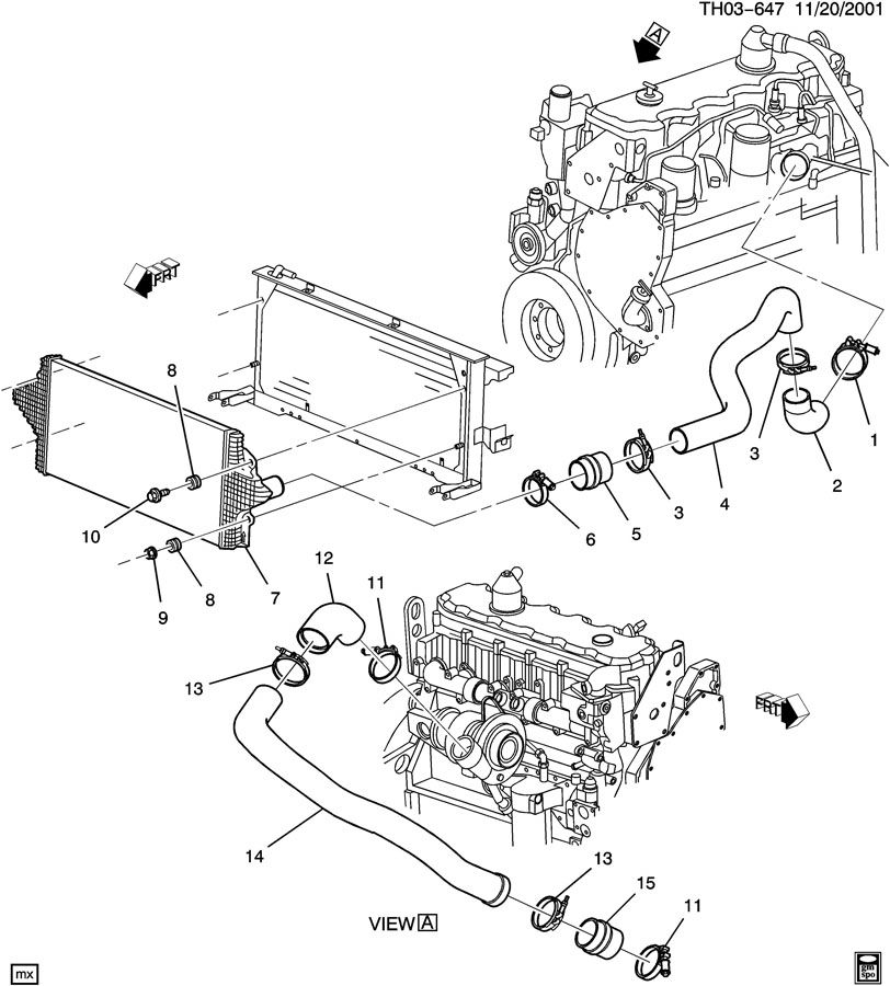 GMC C8500 Cooler. Turbocharger/supercharger cooling