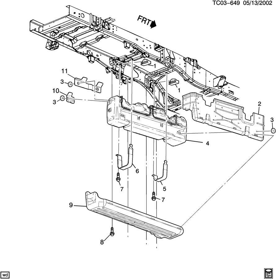 Chevrolet Silverado Shield. Fuel tank. Shield, f/tnk(frt